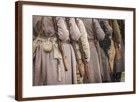 Historical Reenactment: Red Army Soldiers--Framed Art Print