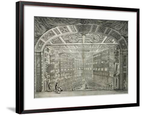 Interior View of Teatro Degli Immobili (Property Theatre) in Florence--Framed Art Print