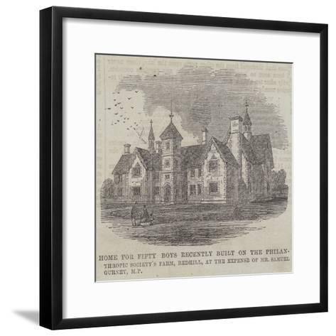 Home for Fifty Boys Recently Built on the Philan-Thropic Society's Farm--Framed Art Print