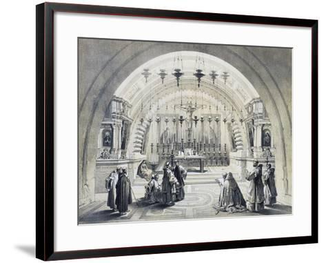 Interior of Church of Holy Sepulchre--Framed Art Print