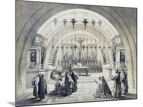 Interior of Church of Holy Sepulchre--Mounted Giclee Print