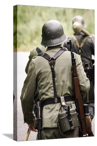 Historical Reenactment: German Soldiers of 26th Panzer Division--Stretched Canvas Print