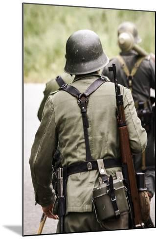 Historical Reenactment: German Soldiers of 26th Panzer Division--Mounted Photographic Print