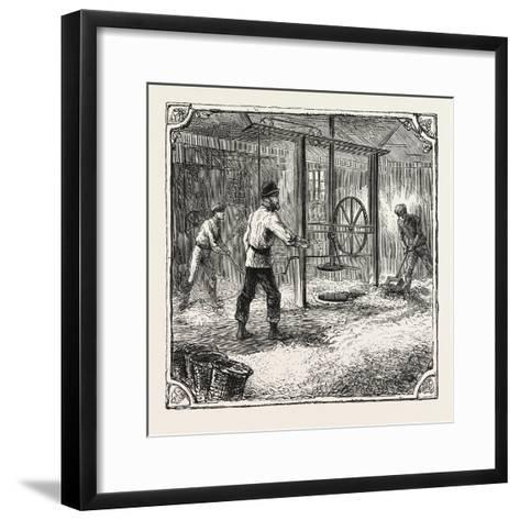Hops and Hop Pickers--Framed Art Print