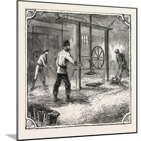 Hops and Hop Pickers--Mounted Giclee Print