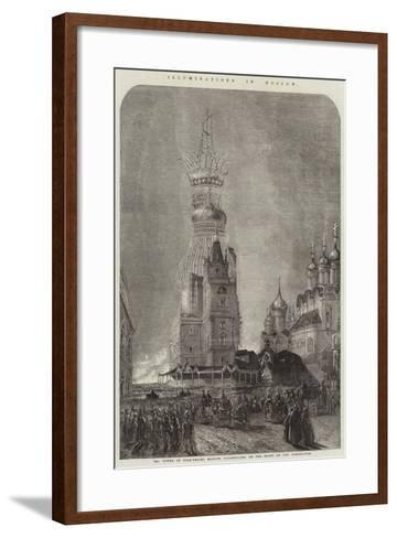 Illuminations in Moscow--Framed Art Print