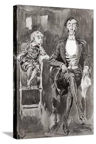 Illustration by Harry Furniss for the Charles Dickens Novel Dombey and Son--Stretched Canvas Print