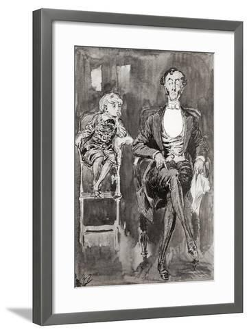 Illustration by Harry Furniss for the Charles Dickens Novel Dombey and Son--Framed Art Print