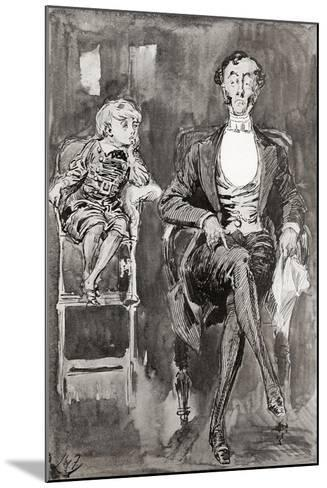 Illustration by Harry Furniss for the Charles Dickens Novel Dombey and Son--Mounted Giclee Print