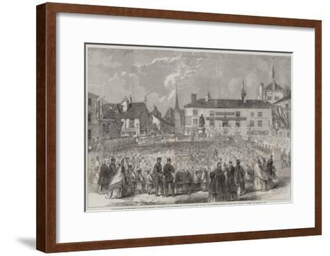Inauguration of the Statue to Samuel Crompton--Framed Art Print