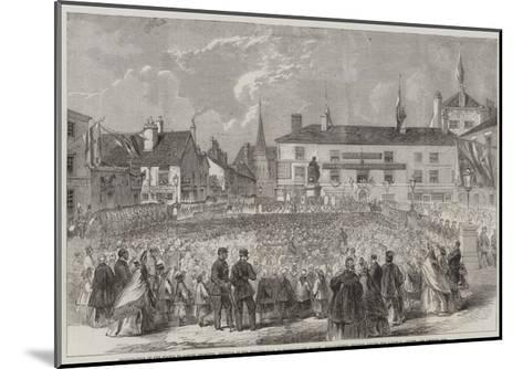 Inauguration of the Statue to Samuel Crompton--Mounted Giclee Print