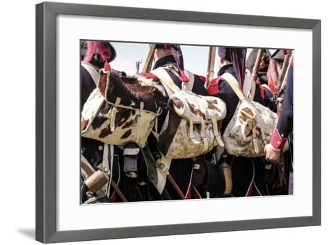 Historical Reenactment: Soldiers of the Tirailleurs Du Po Battalion--Framed Art Print
