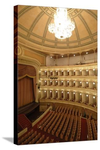 Horseshoe Shaped Auditorium in Coccia Theatre (Opened in 1888)--Stretched Canvas Print