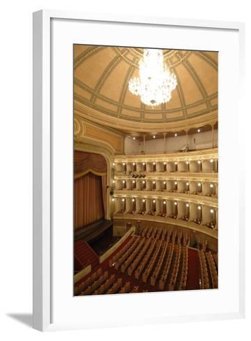 Horseshoe Shaped Auditorium in Coccia Theatre (Opened in 1888)--Framed Art Print