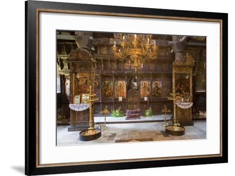 Interior of Most Holy Mother of God Church (1835) in Monastery of Dormition (Troyan Monastery)--Framed Art Print