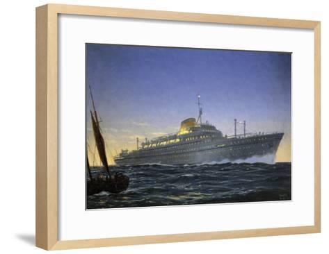 Italian Motor Ship Africa Built for Lloyd Trieste and Used as Cruise Ship--Framed Art Print