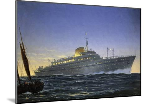Italian Motor Ship Africa Built for Lloyd Trieste and Used as Cruise Ship--Mounted Giclee Print