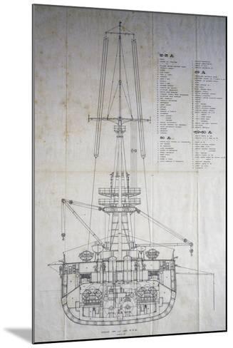 Italian Royal Ship Duilio--Mounted Giclee Print