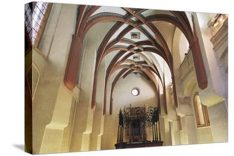 Interior of Pinkas Synagogue--Stretched Canvas Print