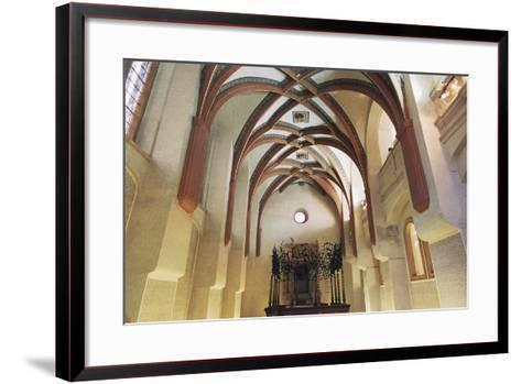 Interior of Pinkas Synagogue--Framed Art Print