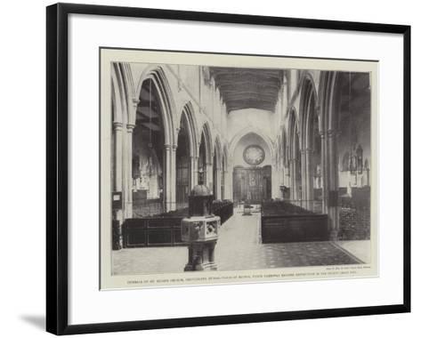 Interior of St Giles's Church--Framed Art Print