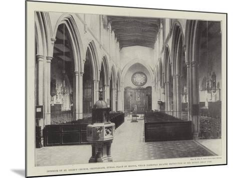 Interior of St Giles's Church--Mounted Giclee Print