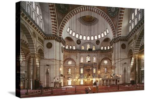 Interior of Suleymaniye Mosque--Stretched Canvas Print