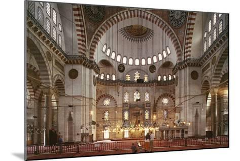 Interior of Suleymaniye Mosque--Mounted Photographic Print