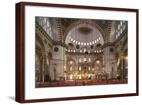 Interior of Suleymaniye Mosque--Framed Art Print