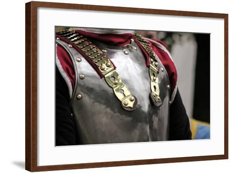 Historical Reenactment: Cuirassier of the Heavy Cavalry of the Napoleonic Army--Framed Art Print
