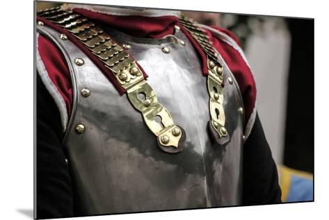 Historical Reenactment: Cuirassier of the Heavy Cavalry of the Napoleonic Army--Mounted Photographic Print