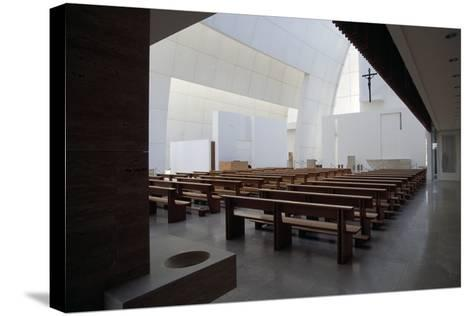 Interior of the Church of God Merciful Father or Dives in Misericordia by Architect Richard Meier (--Stretched Canvas Print