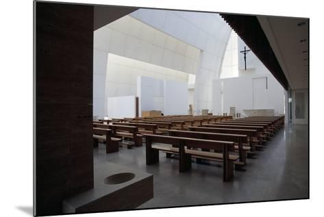Interior of the Church of God Merciful Father or Dives in Misericordia by Architect Richard Meier (--Mounted Photographic Print