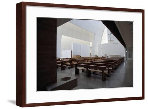 Interior of the Church of God Merciful Father or Dives in Misericordia by Architect Richard Meier (--Framed Art Print