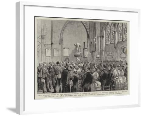 Lord Wolseley Unveiling the Memorial Windows in Rochester Cathedral to General Gordon and the Offic--Framed Art Print