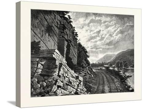 Juniata River--Stretched Canvas Print