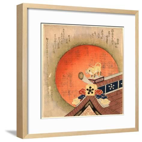 Kawarayane Ni Tora No Okimono--Framed Art Print