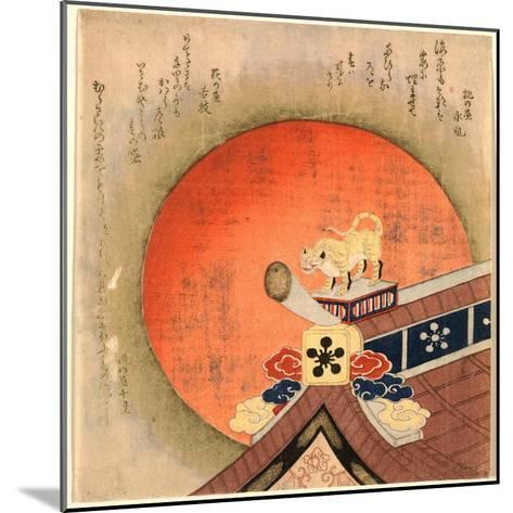 Kawarayane Ni Tora No Okimono--Mounted Giclee Print
