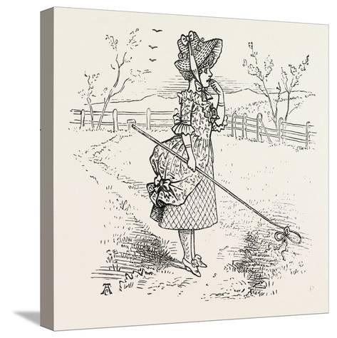 Little Bo-Peep Has Lost Her Sheep--Stretched Canvas Print