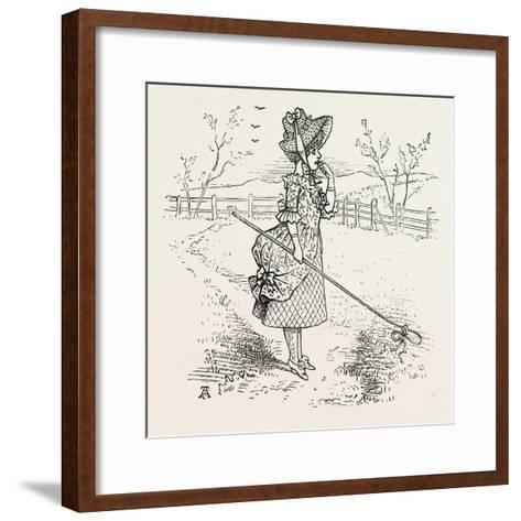 Little Bo-Peep Has Lost Her Sheep--Framed Art Print