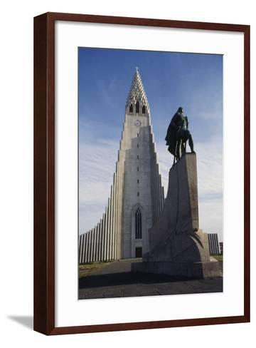 Lutheran Church of Hallgrimurin (Hallgrimskirkja) in Reykjavik--Framed Art Print