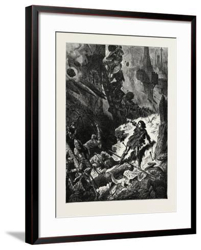 Joan of Arc (Jean D'Arc) at the Siege of Paris--Framed Art Print