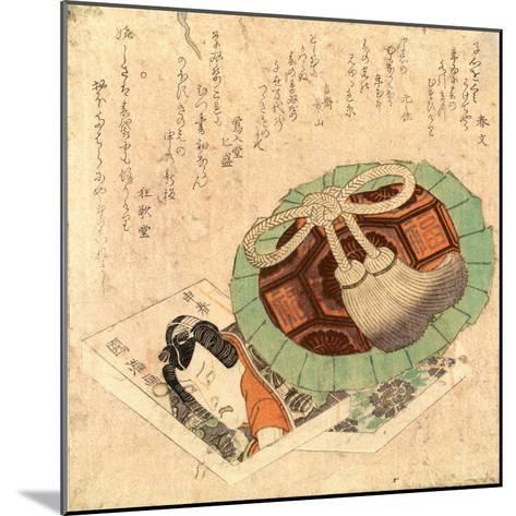 Kinchaku to Kusazoshi--Mounted Giclee Print