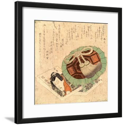 Kinchaku to Kusazoshi--Framed Art Print
