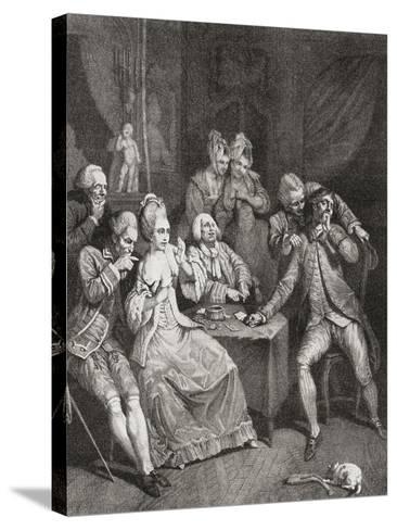 Les Joueurs--Stretched Canvas Print