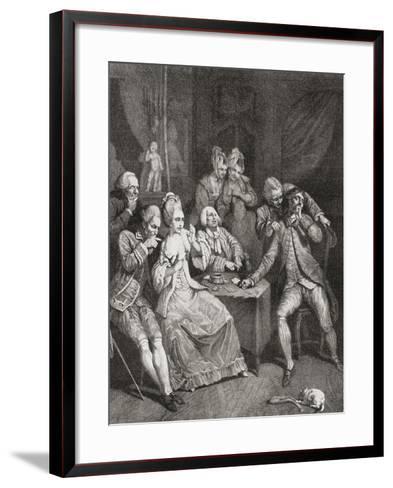 Les Joueurs--Framed Art Print