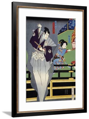 Lover Spying on His Beloved--Framed Art Print