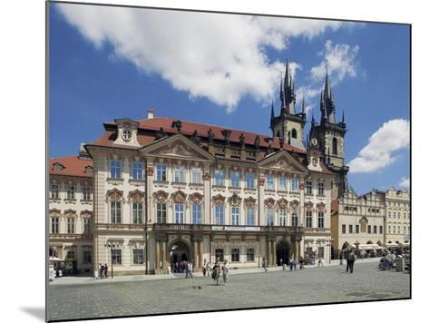 Kinský Palace and the Gothic Church of Our Lady before Tyn on the Old-Town Square--Mounted Photographic Print