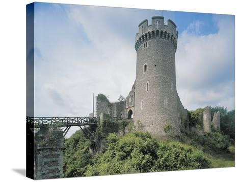 Low Angle View of a Castle--Stretched Canvas Print