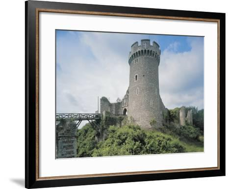 Low Angle View of a Castle--Framed Art Print